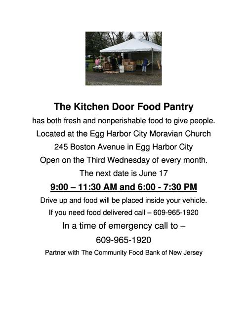 Kitchen Door Food Pantry Moravian Church Flyer